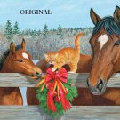 A Horsey Christmas Cross Stitch Pattern Horses Cats ETP