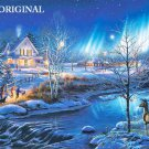 All is Bright Cross Stitch Pattern Winter Christmas Eve ETP