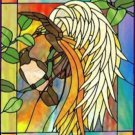 Bird of Paradise Cross Stitch Pattern Stained Glass Look ETP
