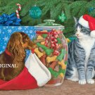 We've Been Good Cross Stitch Pattern Christmas Cats Dogs ETP
