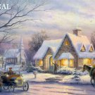 Vintage Winter Evening Cross Stitch Pattern Kinkade ETP