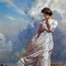 Windswept Prairie Girl Cross Stitch Pattern ETP