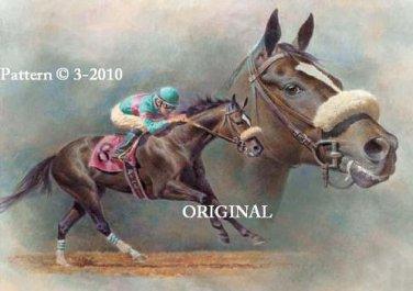 Zenyatta 1 Cross Stitch Pattern Race Horses ETP