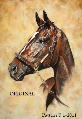 Zenyatta 2 Cross Stitch Pattern Race Horses ETP