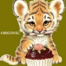 Cup Cake Tiger Cross Stitch Pattern Cats ETP