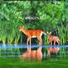 Deer At Pond Cross Stitch Pattern ETP