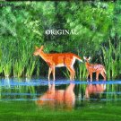 Deer At Pond Cross Stitch Pattern ETP
