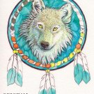 Dreamcatcher Wolf Cross Stitch Pattern Indian ETP