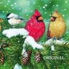 Winter Cardinals Cross Stitch Pattern Song Birds ETP