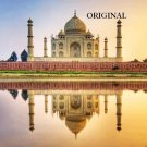 Taj Mahal 'From River View' Cross Stitch Pattern India ETP