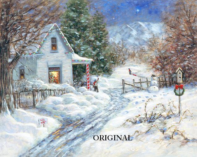 A White Christmas Cross Stitch Pattern ETP