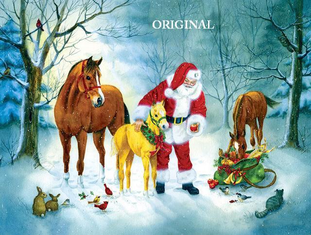 Christmas Gathering Cross Stitch Pattern Santa ETP