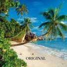 Coconut Beach Cross Stitch Pattern Tropical Hawaii ETP