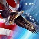 Eagle Soaring w America Cross Stitch Pattern Patriotic ETP