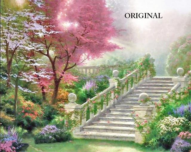 Eternity's Stairway Cross Stitch Pattern Kinkade ETP