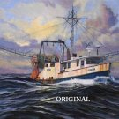 Fishing Trawler Cross Stitch Pattern Ocean Marine ETP