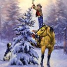Cowboy Christmas Tree Star Cross Stitch Pattern ETP