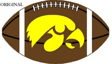 Iowa Hawkeyes #2 Cross Stitch Pattern Football ETP