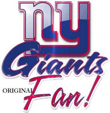 New York Giants Fan Cross Stitch Pattern NFL Football ETP
