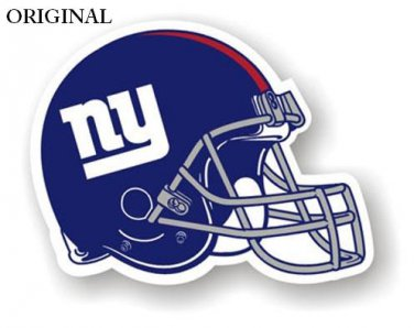 New York Giants Helmet Cross Stitch Pattern NFL Football ETP