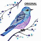 Blue Bird Art... ~Counted~ Cross Stitch Pattern ~Computer Generated~ ETP