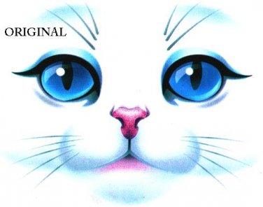 Gorgeous Bue Eyed Cat Face ~Counted~ Cross Stitch Pattern ETP