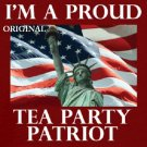 I'm a PROUD Tea Party Patriot...! Cross Stitch Pattern ETP