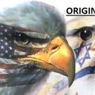 Israeli Falcon & American Eagle Flags... ~Counted~ Cross Stitch Pattern ETP