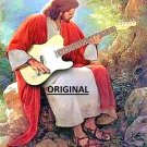 Jesus Playing Guitar... ~Counted~ Cross Stitch Pattern ETP