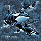 Killer Whales ~ Orca... ~Counted~ Cross Stitch Pattern ETP