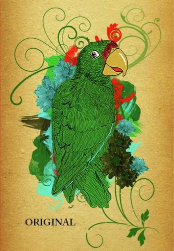 Endangered Puerto Rican Parrot Cross Stitch Pattern