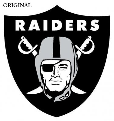 Oakland Raiders AFC-West Counted Cross Stitch Pattern Football  ETP