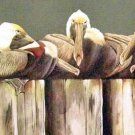 Pelican Pier COUNTED Cross Stitch Pattern ETP