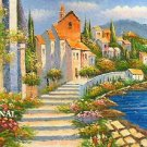 On The Mediterranean Terrace ~Counted~ Cross Stitch Pattern ETP