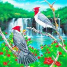 Brazilian Cardinals... ~Counted~ Cross Stitch Pattern ETP