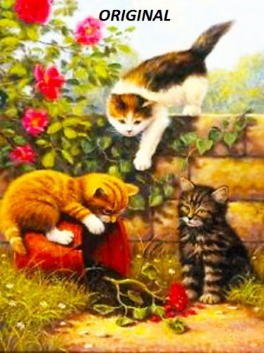 Garden Kittens... ~Counted~ Cross Stitch Pattern ~Computer Generated~ ETP