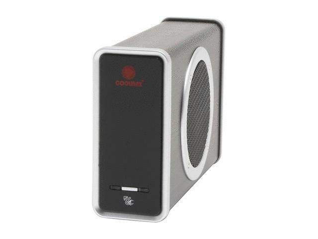 Coolmax CD-390B-U2 3.5 inch Aluminum/ABS IDE-USB2.0 Hard Drive Enclosure w/ 80mm Cooling Fan