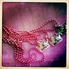 Crown Necklace in Pink