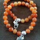Orange Koi Charm Bracelet