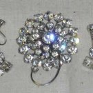 Austrian Crystal Broach and Earings
