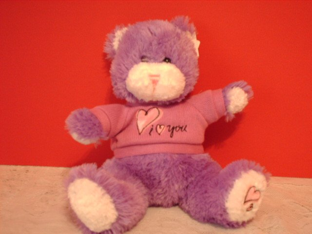 "Purple ""I Love You"" T-Shirt Bear"