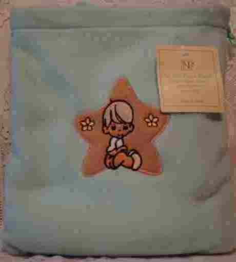Blue Fleece Baby Blanket with Matching Bag - Boy