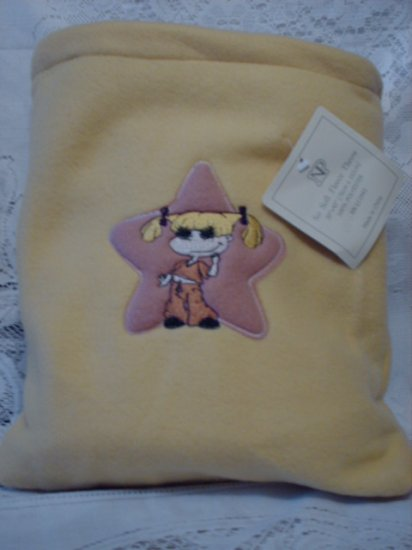 Yellow Fleece Baby Blanket with Matching Bag - Angelica