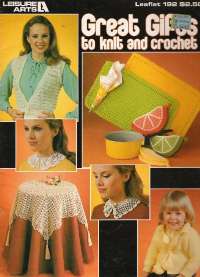 Great Gifts to Knit and Crochet - Leaflet 192