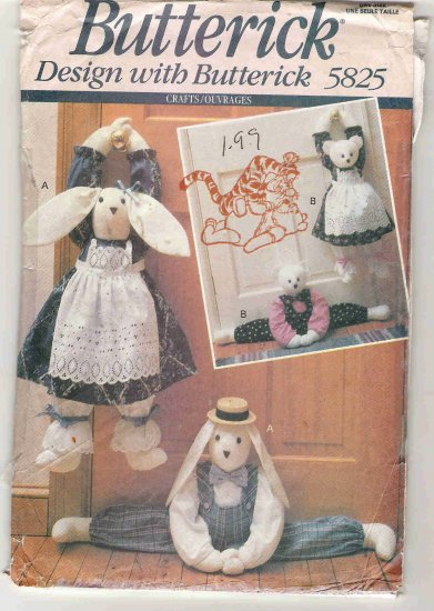 Butterick Crafts 5825 - Rabbits and Bears
