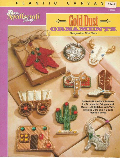 Gold Dust Ornaments in Plastic Canvas #1PCSC