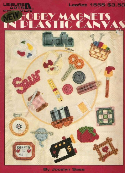 Hobby Magnets in Plastic Canvas Leaflet 1555