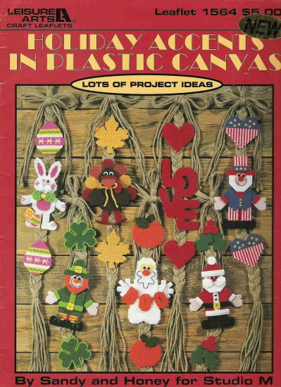 Holiday Accents in Plastic Canvas Leaflet 1564 #1PCSC