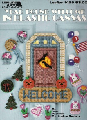 Year Round Welcome in Plastic Canvas Leaflet 1429 #1PCSC