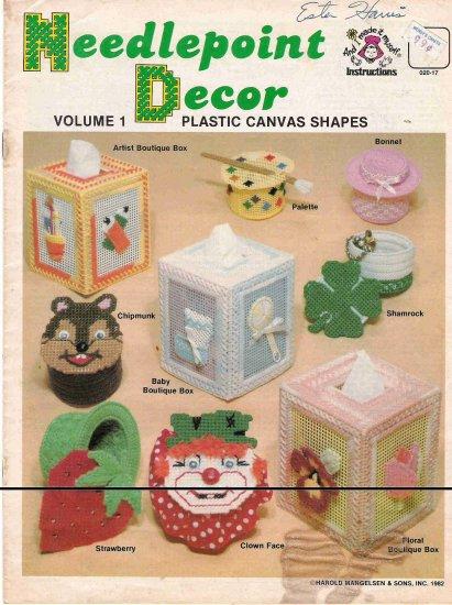Needlepoint Decor Volume 1 Plastic Canvas Shapes #2PCSC